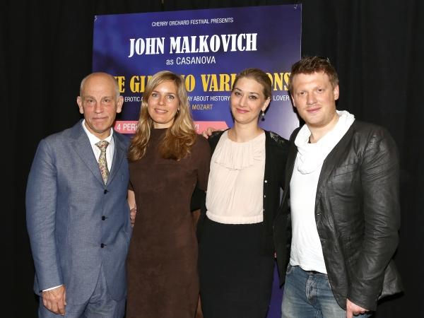 John Malkovich and singers Sophie Klussmann, Kirsten Blaise and Daniel Schmutzhard