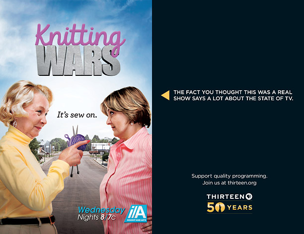 NYC PBS Thirteen Ads Mock Reality TV