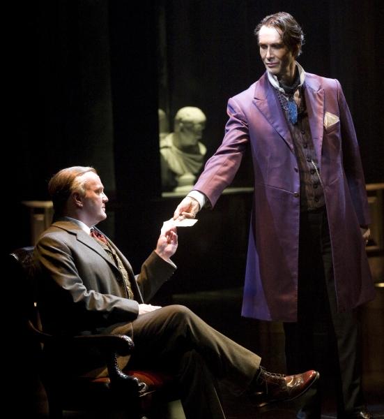 James Black as Mycroft Holmes and Todd Waite as Sherlock Holmes Photo