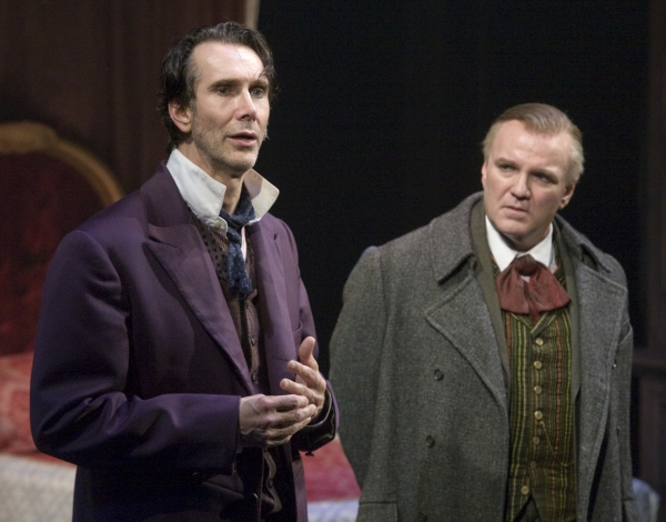 Todd Waite as Sherlock Holmes and James Black as Mycroft Holmes