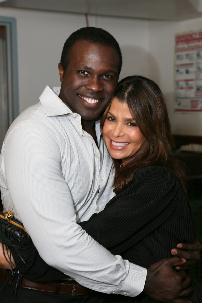 Cast member Joshua Henry and Paula Abdul