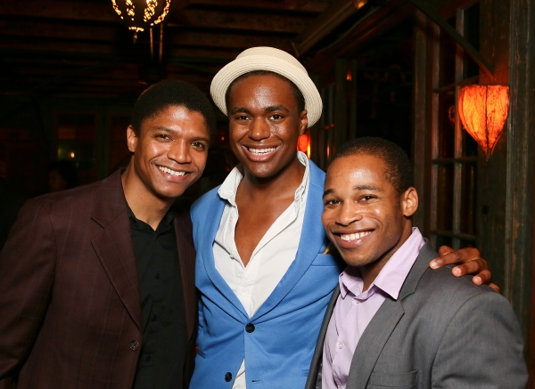 Cast members Christopher James Culberson, Shavey Brown and Gilbert L. Bailey II Photo