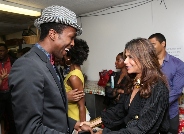 Cast member David Bazemore and Paula Abdul talk backstage