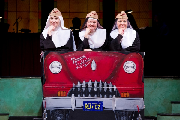 Stephanie Wahl (Sister Mary Leo), Jeanne Tinker (Sister Mary Paul), and Christine Mil Photo