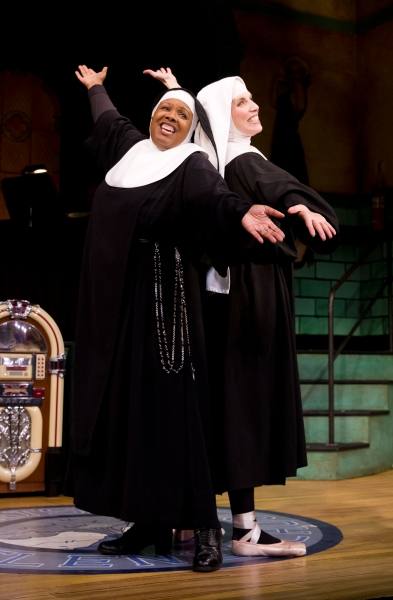 Bambi Jones (Sister Mary Hubert) and Stephanie Wahl (Sister Mary Leo)