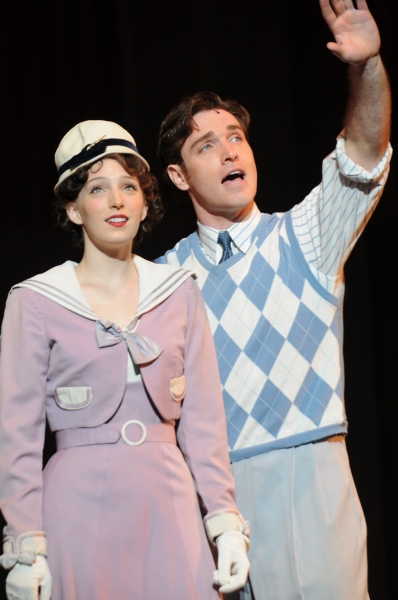 Ephie Aardema as Peggy Sawyer and Tyler Hanes as Billy Lawlor