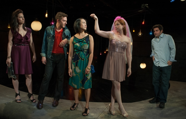 Melissa (Audrey Francis), Eddie (Andrew Goetten), Linda (Emjoy Gavino), Marnie (Darci Nalepa) and Frank (Brian King) in The Drunken City