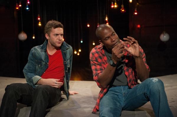 Eddie (Andrew Goetten) and Bob (Sean Parris) in The Drunken City
