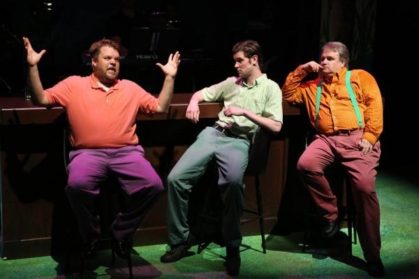 Nicholas Kelly, Ryan Foizey, and Joel Hackbarth as three hipsters