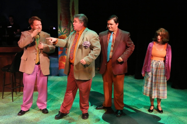 Nicholas Kelly as William Faulkner, Joel Hackbarth as Tennessee Williams, Christopher Strawhun as William S. Burroughs, and Chrissy Young as Sylvia Plath, singing ''Get Down, Get Dark, Get Dirty''