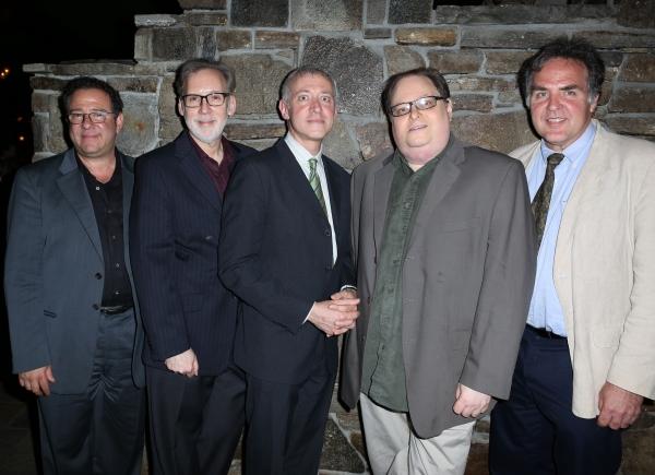 Michael Greif, Michael Korie, Scott Frankel, Richard Greenberg, Tim Sanford  Photo