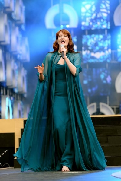 THE WOMEN''S CONCERT FOR CHANGE: LIVE FROM LONDON -- ''Chime For Change: The Sound Of Change Live'' Concert at Twickenham Stadium on June 1, 2013 in London, England -- Pictured: Singer Florence Welch of Florence and the Machine performs on stage -- (Photo
