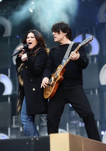 THE WOMEN''S CONCERT FOR CHANGE: LIVE FROM LONDON -- ''Chime For Change: The Sound Of Change Live'' Concert at Twickenham Stadium on June 1, 2013 in London, England -- Pictured: Laura Pausini (L) performs on stage -- (Photo by Ian Gavan/Getty Images for G