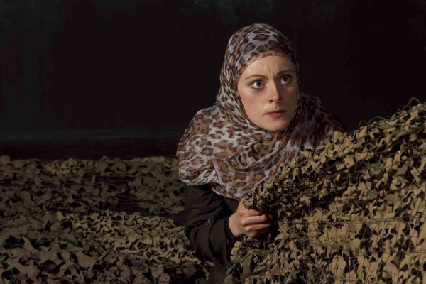 Kim Stephenson as Woman in ''Seven Palestinian Children'' by Deborah S. Margolin Photo
