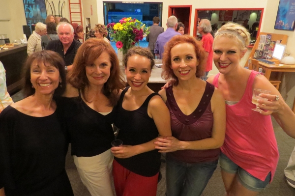 Stephane Satie and Connie Danese with current cast members Cristina Gerla, Kelly Lester and Jennifer Malenke