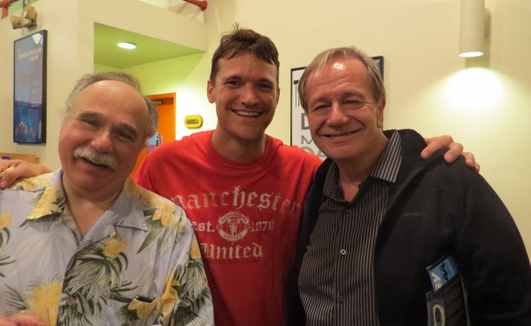 Current cast members Joey D''Auria and Tom Lowe with 1982 cast member Sam Anderson