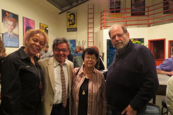 Roxanne Mayweather, Bill Castellino, former LA Times Theatre Critic Sylvie Drake, Odyssey Theatre Ensemble Artistic Director Ron Sossi
