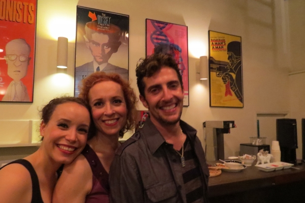 Current cast members Cristina Gerla, Kelly Lester, Andrew Ableson                   Photo