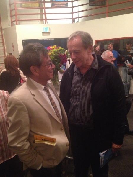 Bill Castellino and Sam Anderson (Bill directed Sam in the 1982 West Coast premiere)