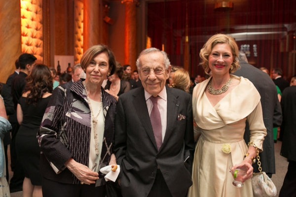 Jane Safer, Morley Safer, and Lapham's Quarterly Director of Development Laurie Eustis
