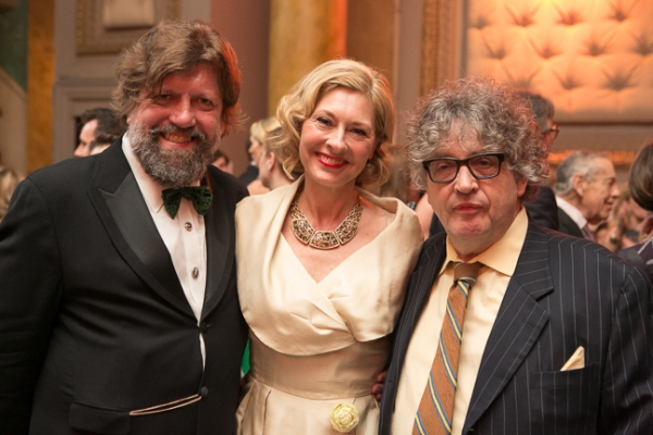 Oskar Eustis, and Lapham's Quarterly Director of Development Laurie Eustis, and Paul Muldoon
