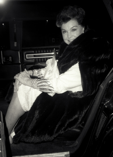 Esther Williams pictured in New York City in Febuary of 1985.
