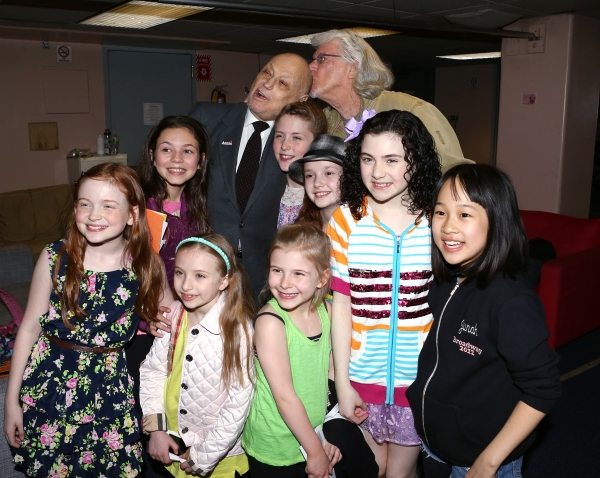 Charles Strouse, Martin Charnin, Lilla Crawford & the young cast members
