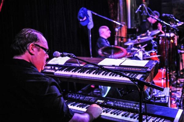 Glenn Mack, keyboards, Marc Hochlerin, drums