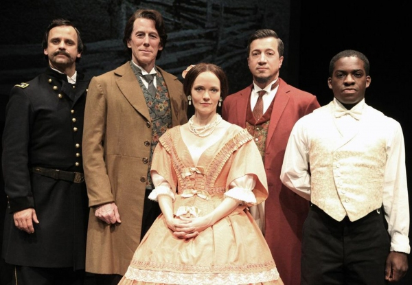 The Cast:  Don Burroughs, Steven Hauch, Leah Curney, Stacey Todd Holt and Tyrone Davi Photo