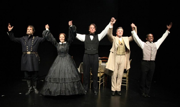 The Curtain Call:  Don Burroughs, Leah Curney, Steven Hauch, Stacey Todd Holt and Tyr Photo