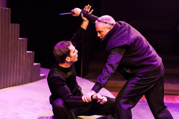 L to R: David Matranga as Macduff and Philip Lehl as Macbeth.