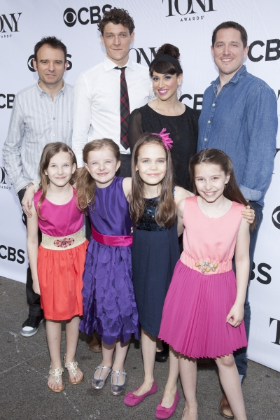 Matthew Warchus, Gabriel Ebert, Lesli Margherita, Bertie Carvel, Bailey Ryon, Milly Shapiro, Sophia Gennusa and Oona Laurence