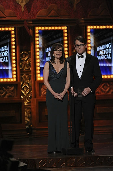 Sally Field and Matthew Broderick during THE 67TH ANNUAL TONY AWARDS broadcast live from Radio City Music Hall.  Photo: Heather Wines/CBS