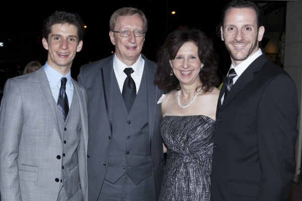 Colin Isreal, his parents and Michael Pesce Photo