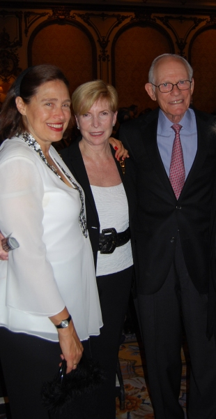 Bay Area Cabaret Founder Marilyn Levinson and Deborah Strobin with Academy award-winning composer Alan Bergman