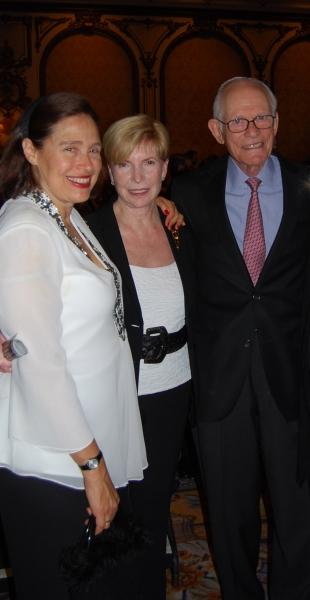 Bay Area Cabaret Founder Marilyn Levinson and Deborah Strobin with Academy award-winning composer Alan Bergman