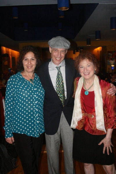 Amas Musical Theatre's Donna Trinkoff, Star and co-writer, Elaine Bromka and co-writer  Eric H. Weinberger