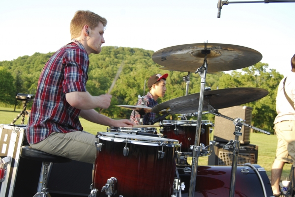 Drummer Austin DeVries performs at The Mansion at the Fontanel.