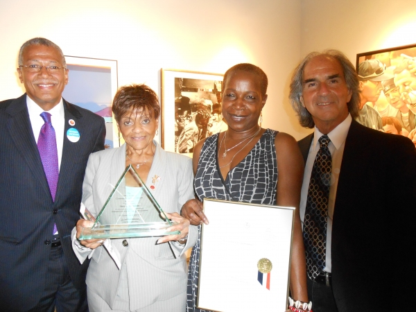 Councilman Robert Jackson, Honoree Councilwoman Inez E. Dickens, Marline Martin, Howard Teich