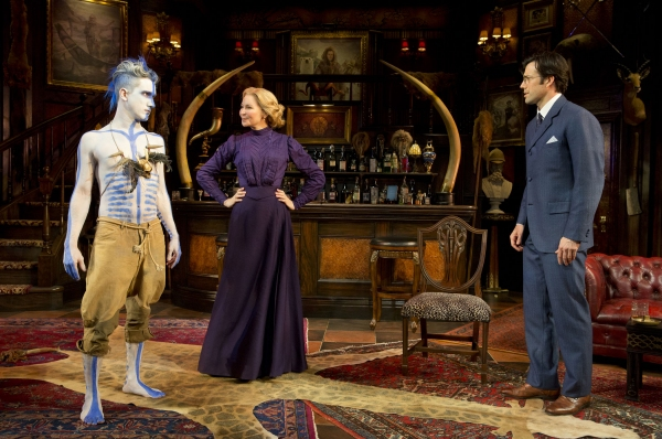 Carson Elrod as Luigi, Jennifer Westfeldt as Phyllida Spotte-Hume and Lorenzo Pisoni as Lucius Fretway