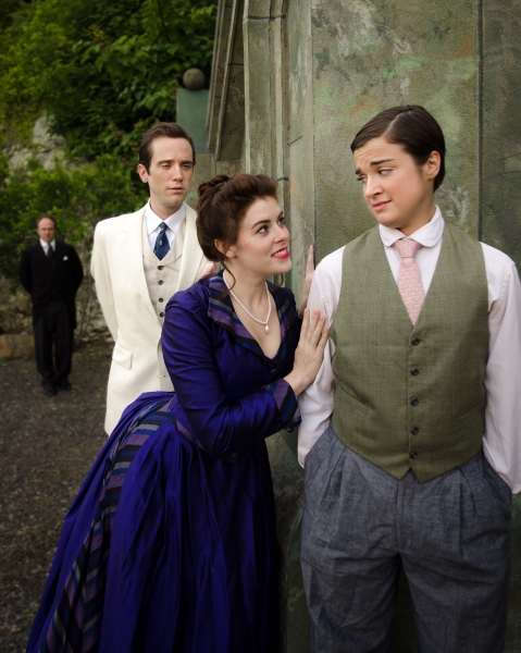 Matt Lawler as Malvolio, John Keller as Orsino, Lacy Dunn as Olivia, and Caitlin Rign Photo