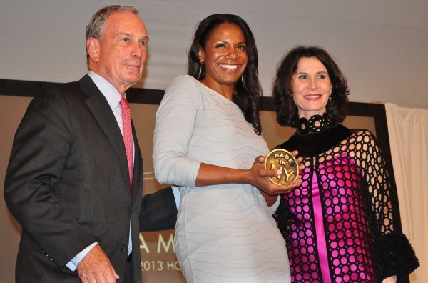 Mayor Michael Bloomber, Audra McDonald, Commissioner Katherine Oliver