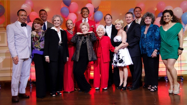 Rambo (Producer Writer), Nancy Dussault, Keith McNutt (AF WC Director), June Lockhart, Anne Jeffreys, Tommy Tune, Millicent Martin (below), Charlotte Rae, Marc Cherry, Cathy Rigby, John Holly (AF WC Chairman), Luke Yankee (Event Director), Jomarie Ward (A