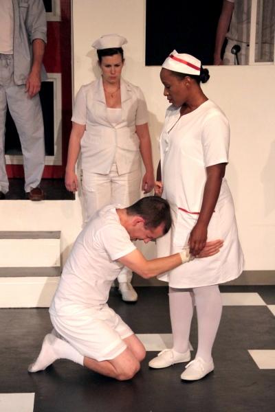 Kelly Dwyer (Nurse Flinn), Joe Von Bokern (Billy) and Jada Roberts (Nurse Ratched)