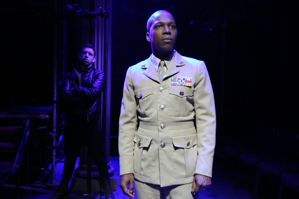 Matt Sax and Leslie Odom Jr. in the Public Lab musical Venice, with book by Eric Rosen, music by Matt Sax, lyrics by Matt Sax and Eric Rosen, additional music by Curtis Moore, choreography by Chase Brock and directed by Eric Rosen, running at The Public T
