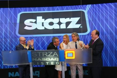 "Steven Brown, Managing Director, NASDAQ; Danny Huston and Kelly Lynch, stars of ""Magic City""; Mitch Glazer, Writer, Creator and Executive Producer of ""Magic City""; David Wicks, Vice President, NASDAQ OMX"