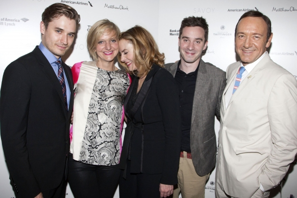 Seth Numrich (Chance Wayne), Marianne Elliott (Director), Kim Cattrall (Alexandra Del Lago), James Graham (Adaptation) and Kevin Spacey (Artistic Director)