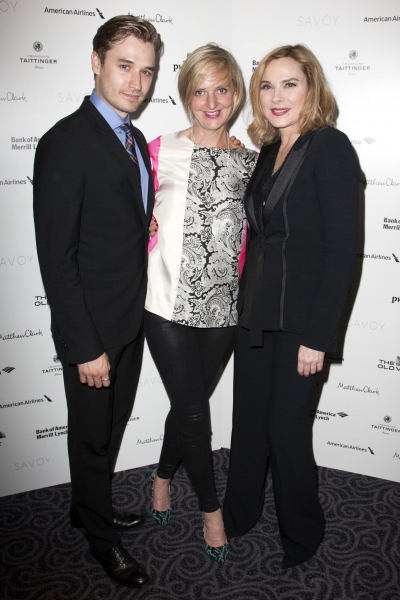 Seth Numrich (Chance Wayne), Marianne Elliott (Director) and Kim Cattrall (Alexandra Del Lago)''Sweet Bird of Youth'' play after party at the Savoy Hotel, L