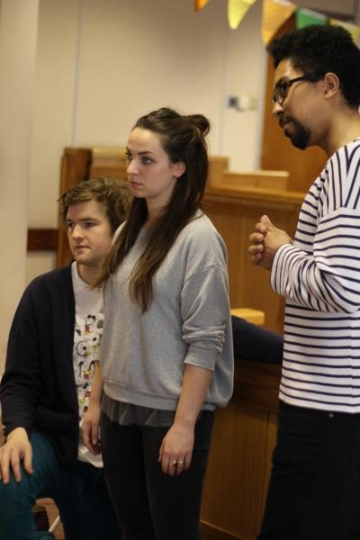 Benedict Hastings (Paul Biegler), Niamh Watson (Paquette) and Herb Cuanalo