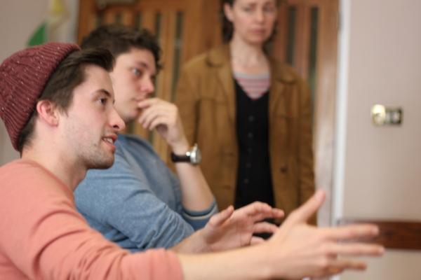 Matt Jessup (Claude Dancer), George McFadyen (Lt. Frederic Manion) and mentor Federay Photo